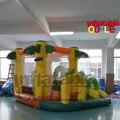 Selva Rebote Casa Gorila Inflable Moonwalk Jumper Castillo Con Tobogán Y piscina de Bolas