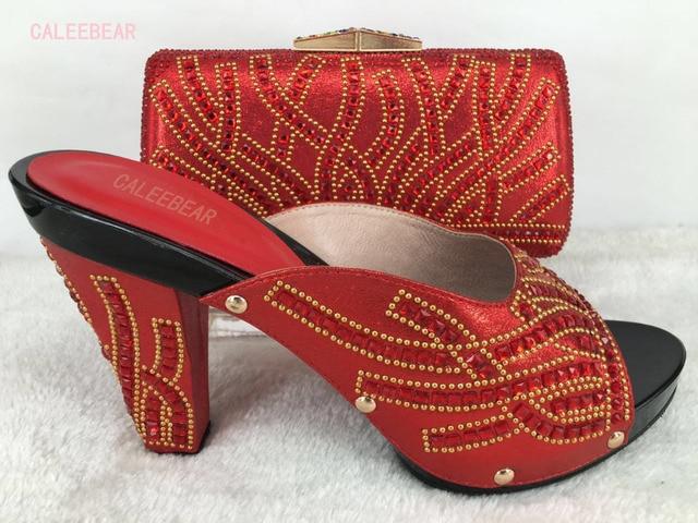 Italienische Sommer Concise Frauen Schuhe Und Taschen Zu Entsprechen Hohe  Qualität sandalen Und Tasche Set Fashion bf2ea79d19