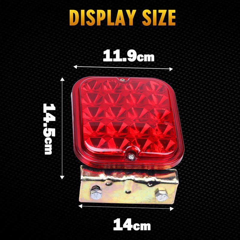 2 PCS 12 V LED Praça Vermelha parar por sua vez indicador de Aviso cauda Lâmpada de freio traseiro Do Caminhão leve Folga Reboque do carro lado Marcador de luz