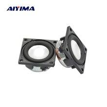 Aiyima 2 шт. 1 дюймов квадратный динамик 23 мм 4Ohm 2 Вт полный диапазон динамик супер качество звука мини аудио Bluetooth громкий динамик