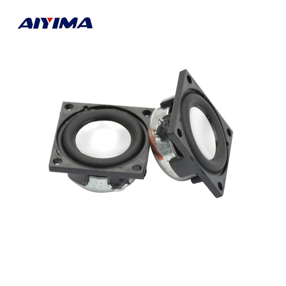 Aiyima 2 шт. 1 дюйм площади Динамик 23 мм 4ohm 2 Вт полный спектр Динамик супер качество звука мини аудио bluetooth громкая Динамик