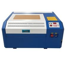 El envío libre 50 w máquina de marcado láser 4040 co2 láser máquina de grabado de bricolaje mini contrachapado de corte apoyo Coreldraw 40*40 cm como