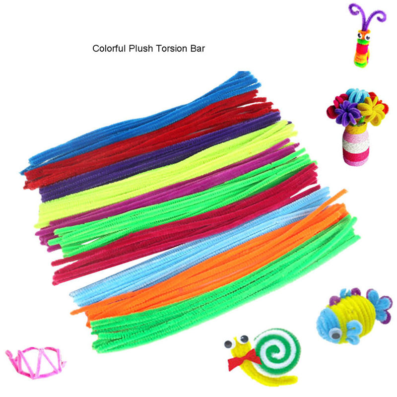 100pcs Multicolour Chenille Stems Pipe Cleaners Handmade Diy Art Material Kids Creativity Handicraft Children Toys