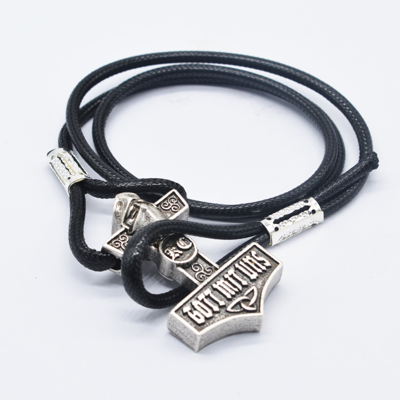 Buy 10pcs Viking Thor Hammer Mjolnir Bracelet Wholesales Charm Leather Wrap Bracelet For Men Talisman Amulet Bracelet Jewelry BT35 for $35.70 in AliExpress store