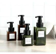 2 PCS Press type foaming bottle liquid soap foam  foam bottle empty shampoo travel pack shower gel