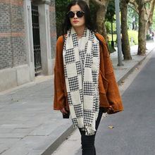 Tartan Plaid Scarf Women Winter Scarf Female Warm Shawls And Scarves Women