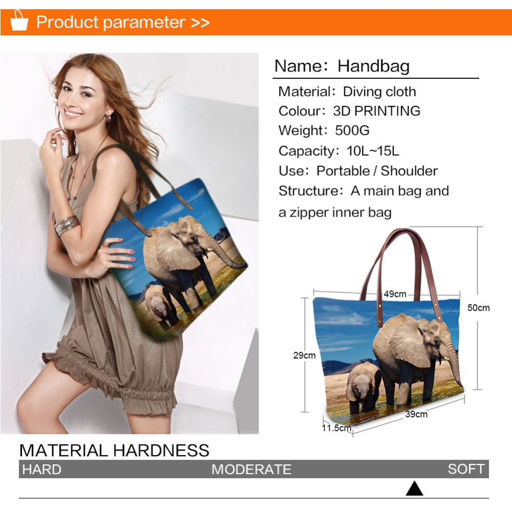 Handbag for Women 2019 New Fashion Bags Shoulder Bag Beach Bag Animal Peacock Print Pattern Design Tote Bolso in Shoulder Bags from Luggage Bags