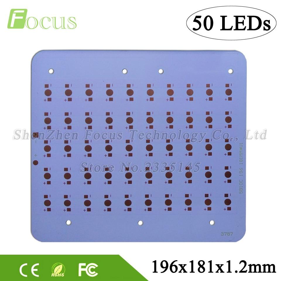 1W 3W 5W Aluminum Plate 196*181*1.2mm High Power PCB Heat Sink Plate Board DIY 50W / 150W LED Bulb For 1 3 5 Watt Light Beads