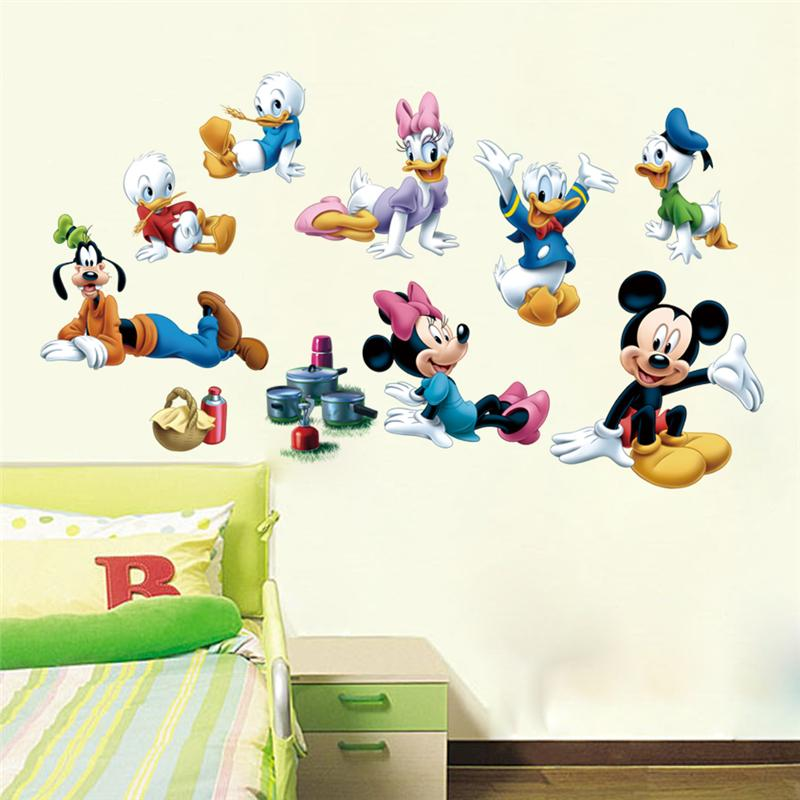 Popular Movie Lovely Mickey Mouse Wall Stickers For Kids Room Decoration  Diy Home Decals Animals Cartoon Mural Art Posters  In Wall Stickers From  Home ...