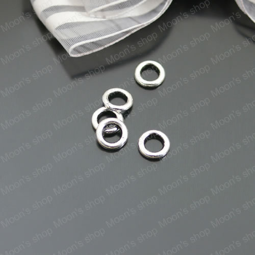 Wholesale 8mm Antique Silver color Alloy Closed Circle Rings DIY Jewelry Findings Components 100 pieces(JM2439)