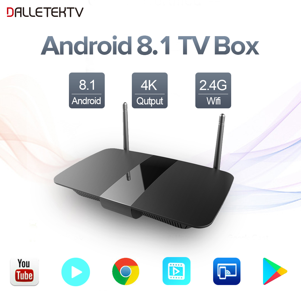 Leadcool Q1504 Smart Tv Android 8.1 TV Box RK3229 Quad-Core 1 GB/2 GB 8 GB/16 GB Support 2.4 GHz WiFi 4 K Streaming lecteur multimédia boîte