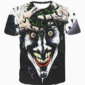 2017 casual Batman Joker hiphop male concert shirt O-neck sweatshirt 3d print women/men cartoon pullover summer Tees T-shirt