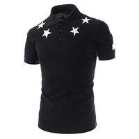 Zogaa новый бренд geek летние мужские рубашки поло Мода поло с короткими рукавами рубашка мужская с принтом звезды хлопковые повседневные мужск...