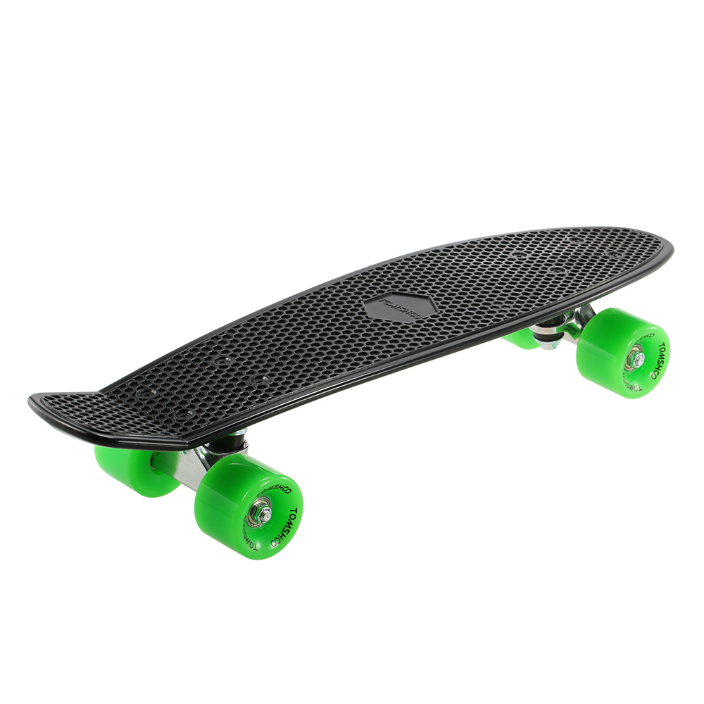 5fa6343cce6 TOMSHOO 22 Polegada Skate Cruiser Board PU Quatro Rodas Rua Banana ...