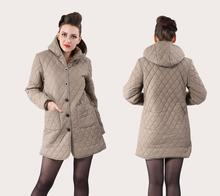 Coat Large size XL-6XL bust 130CM Womens cotton-padded jacket winter medium-long cotton plus ladies jackets coats