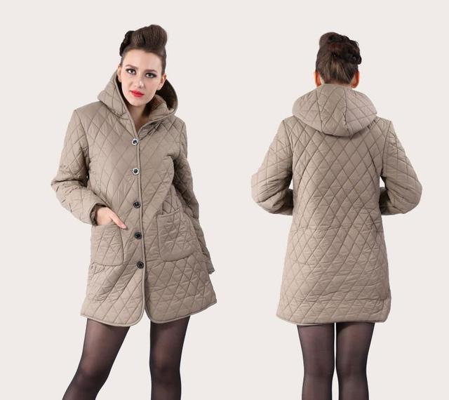 plus récent ef491 2d4dc € 23.79 |Manteau grande taille XL 6XL buste 130 CM veste femme en coton  rembourré hiver moyen long coton grande taille veste dames vestes manteaux  ...