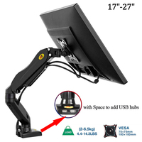 F80 Monitor Desk Mount Stand 17 27 Computer Monitor Holder Arm Gas Spring Full Motion Flexible TV Monitor Mount Loading 2 6.5kg