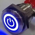 ELEWIND 16mm iluminada símbolo poder empujar switchs (PM161F-10ET/J/B/12 V/S)