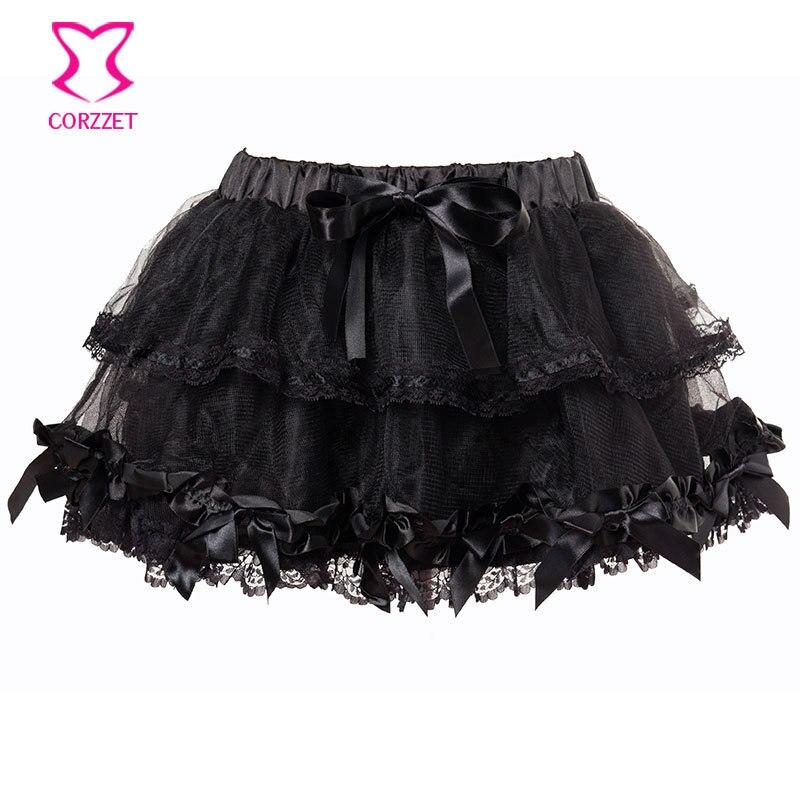 Sexy Black Mesh Lace Burlesque Short Saia Petticoat Tutu Mini Skirt Women Skirts 2015 Summer Dance