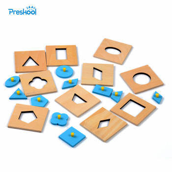 Family Version Baby Toy Montessori Wood Insets Set 10 Early Childhood Education Preschool Training Kids Toys