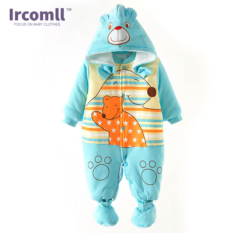 2017  Newborn Baby Boy Winter Long Sleeve Cotton Clothing Toddler Baby Clothes Romper Warm Cartoon Jumpsuit for 0-12 Months winter baby rompers organic cotton baby hooded snowsuit jumpsuit long sleeve thick warm baby girls boy romper newborn clothing
