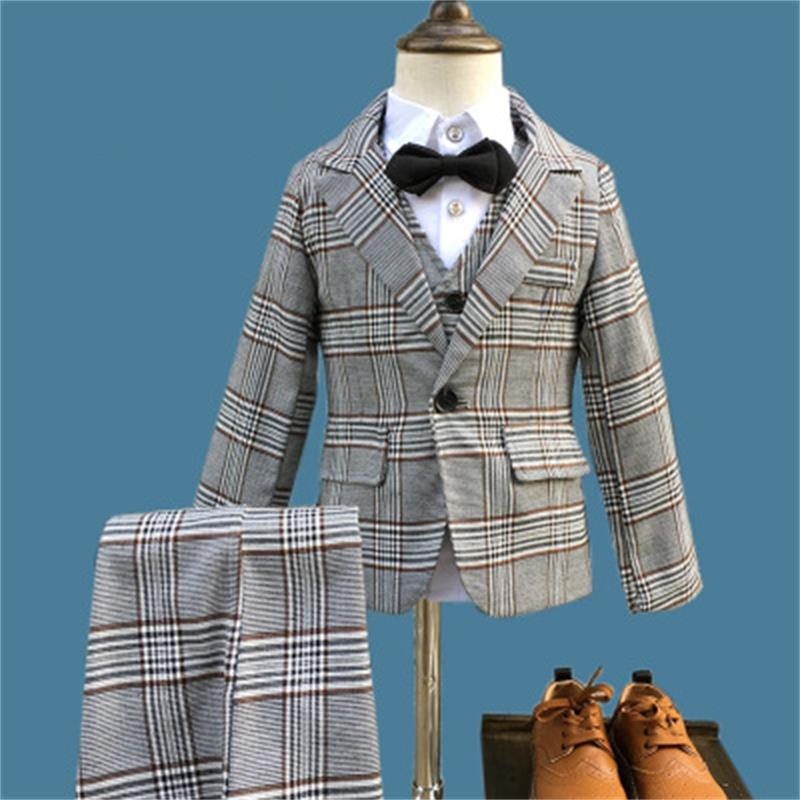 Boys BlackBlazer 3 pcs/set Wedding Suits for Boy Formal Dress Suit Boys wedding suit Kid Tuxedos Page boy Outfits 3pieces boys suits 3 piece wedding suit prom page boy baby formal party 3 colours