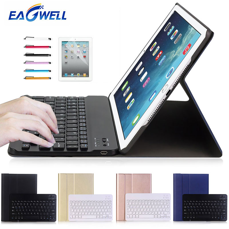 Eagwell 2 in 1 Wireless Bluetooth Keyboard Leather Case For Apple iPad Pro 10.5 Removable Tablet Bluetooth Keyboard Cover Case wireless removable bluetooth keyboard case cover touchpad for lenovo miix 2 3 300 10 1 thinkpad tablet 1 2 10 ideapad miix