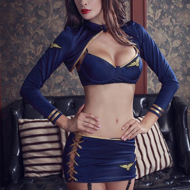Sexy assistente di volo porno