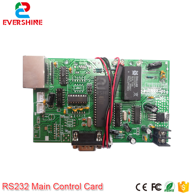 US $33 8 |Main Control Card 12V RS232 Gas Oil Price LED sign Control Board  Use For All Size Led Digital Number Module For Gas Station-in LED Modules