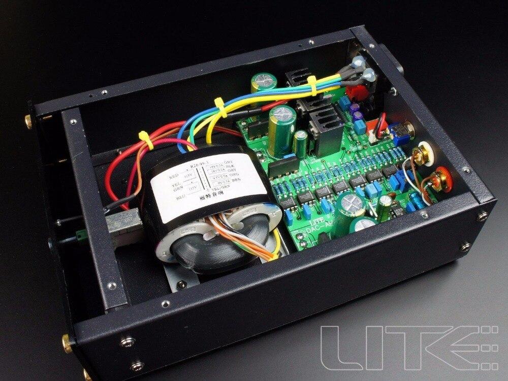 LITE TDA1543 X8 In Parallel Hi end Audio DAC Coaxial + Fiber Input