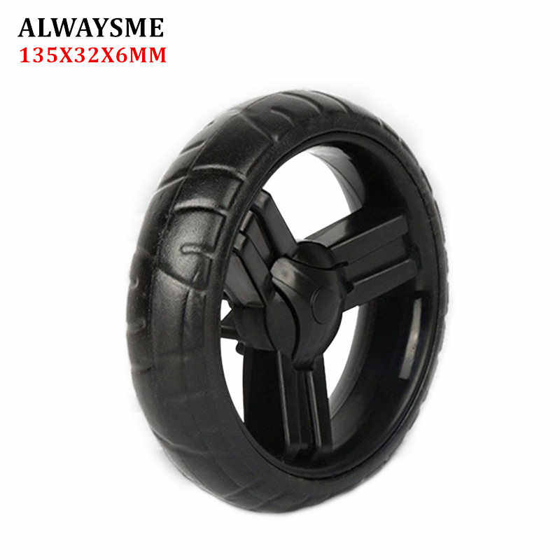 ALWAYSME 1PCS Baby Kids Stroller Replacement Parts Stroller Wheels  Shopping Cart Wheels Diameter 134mm Width 32mm Hole 6mm