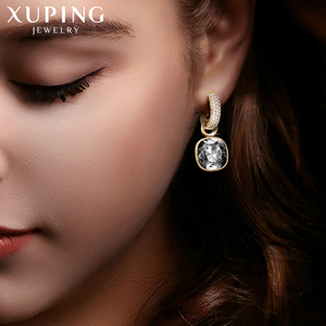 Image 5 - Xuping Jewelry Luxury Exquisite Crystals from Swarovski Gold Color Plated Earrings for Women Valentines Day Gifts M65 203