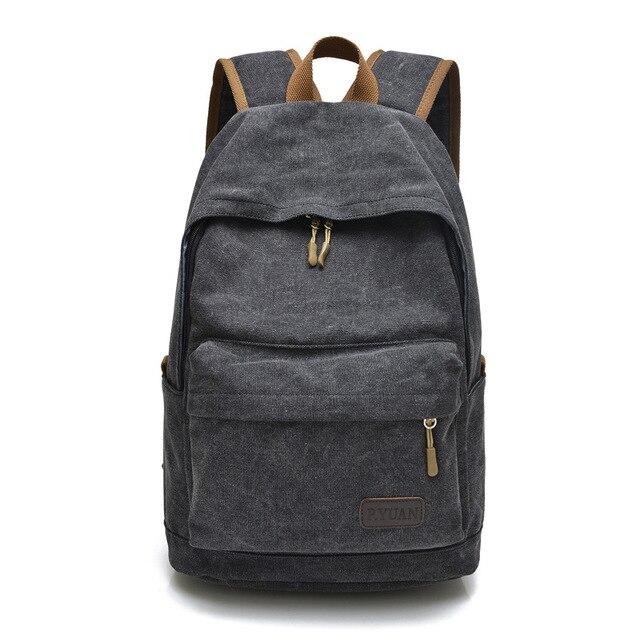 Men Male Casual Backpack Men's Backpacks Vintage Men Canvas Travel Bag High Quality School Bag For Teenager Boys College Mochila