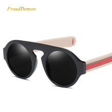 Prouddemon 2019 New Brand Designer Luxury Round Sunglass Men And Women Retro Vintage Plastic Frame Clear Lens Eyewear Shades