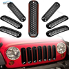 Black Front Mesh Insert Grille Kit Rust Resistant Grill Off Road Car Auto Parts For Jeep