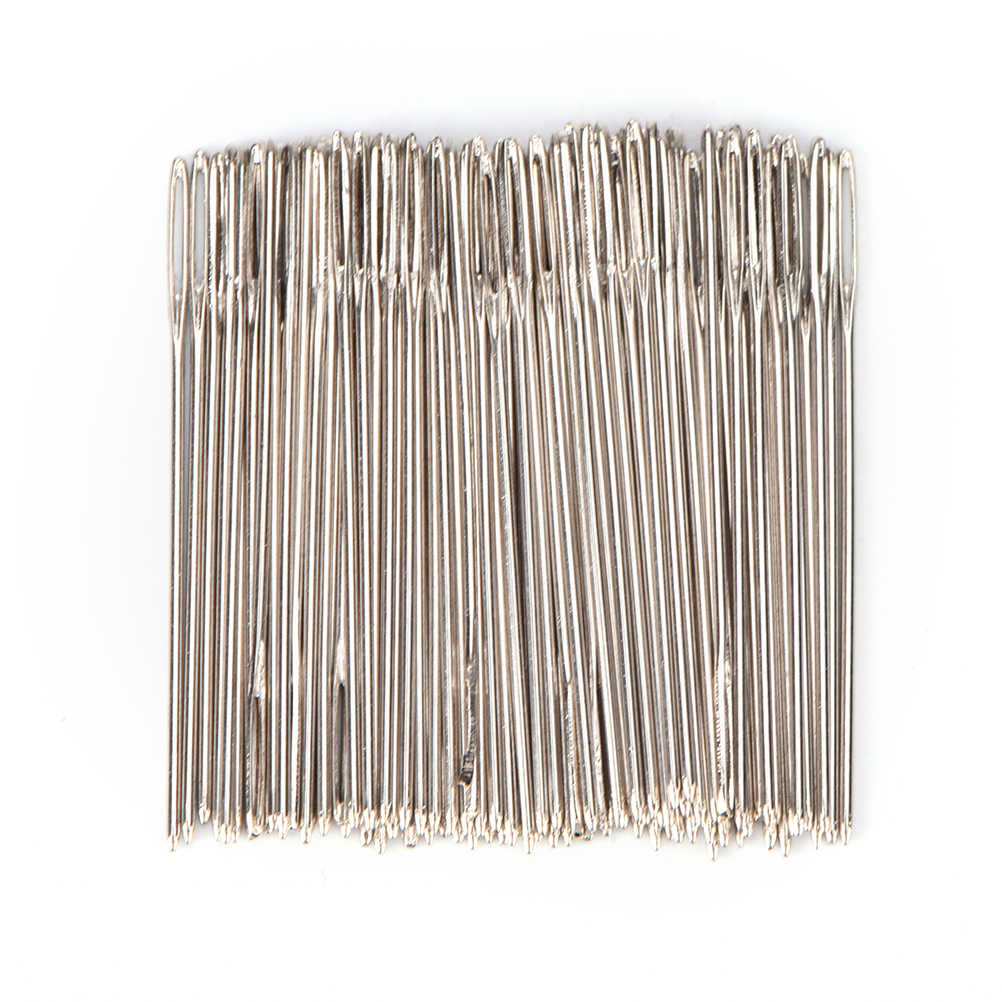 High quality 100 PCS/Lot silverTail Embroidery Fabric Cross Stitch Needles Size 24 For 11CT Stitch Cloth Sewing Kit
