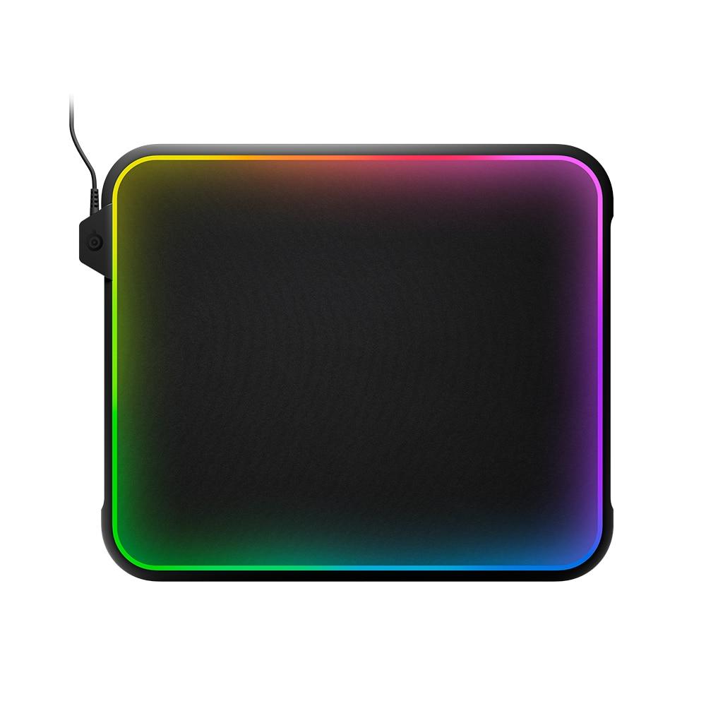 Tapis de souris de jeu de lumière rvb polychrome de prisme de Steelseries QcK