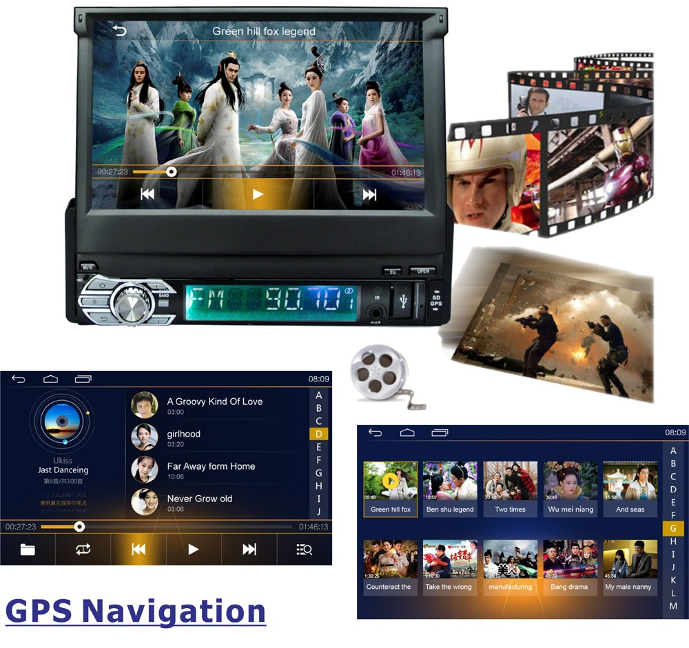 7 inch Capacitive Touch Screen Android 1 DIN Universal GPS Navigation Car Radio Stereo13