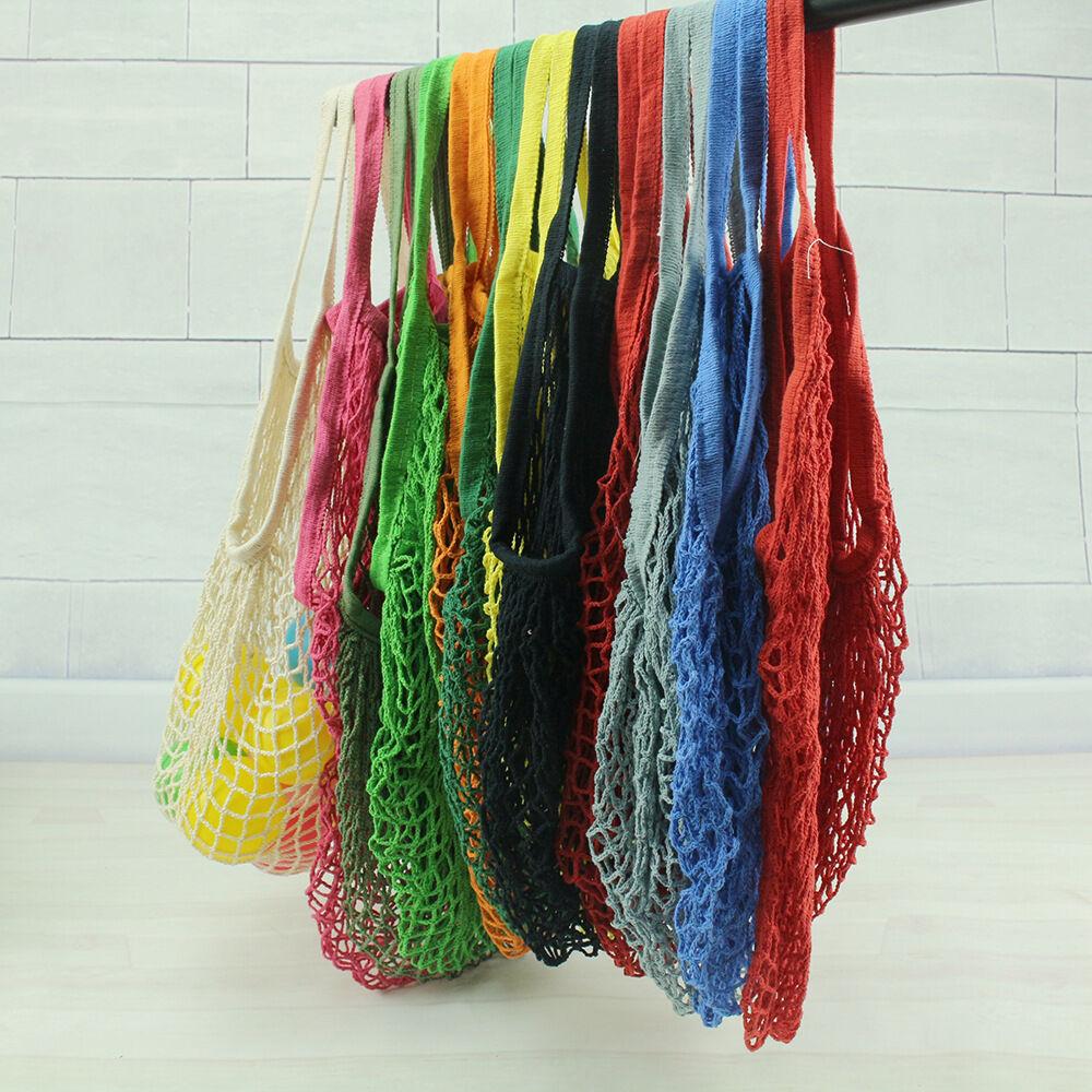 Лимит 100 многоразовый фруктовый шоппинг струна продуктовый шоппер хлопок тоут сетка тканая сетка мешок P