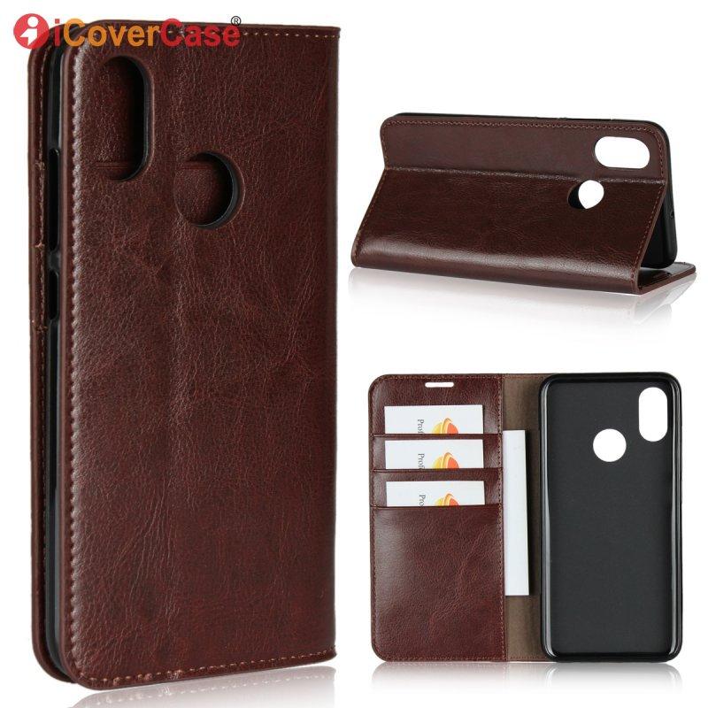 Funda de cuero genuino para Xiao mi 8 lujo cartera de negocios Flip funda para Xiao mi 8 teléfono móvil bolso accesorio Etui Coque caso