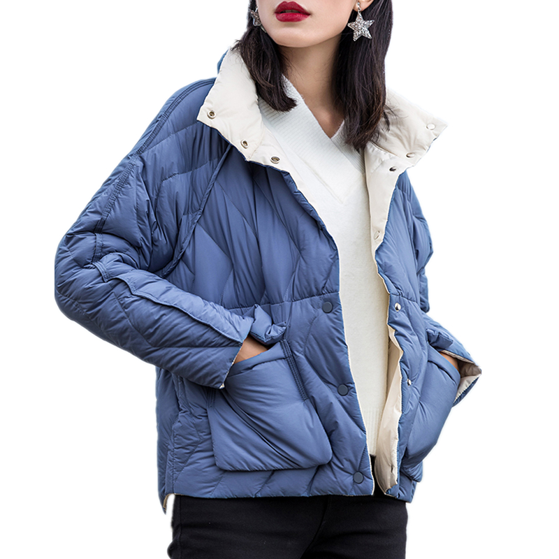 Côté La Femelle Hiver Deux Duvet Pied Veste Ultra Ly648 Marque Taille Lumière blue Blanc Green Porter Manteau Plus Femmes Black red white pink Parkas 90 yellow Col Canard De Pardessus dark nzZanO