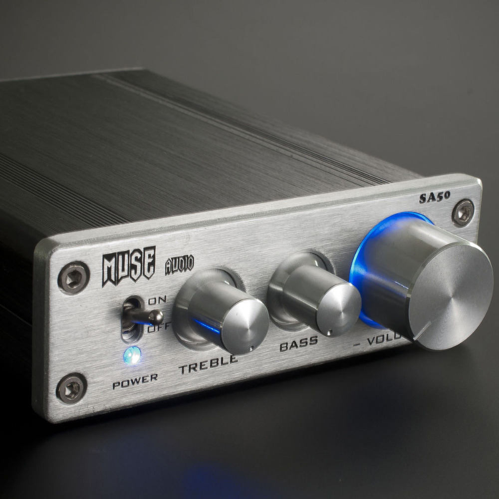 ФОТО MUSE SA50 TDA7498L 68Wx2 Power HIFI Digital Amplifier with 12V 2A Power Supply