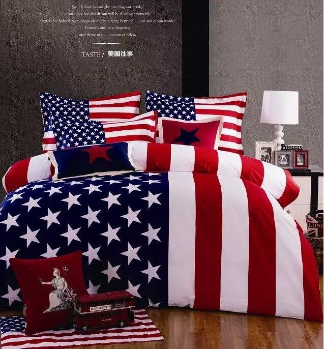 Bandera americana cama edredón de tamaño queen edredón de cama