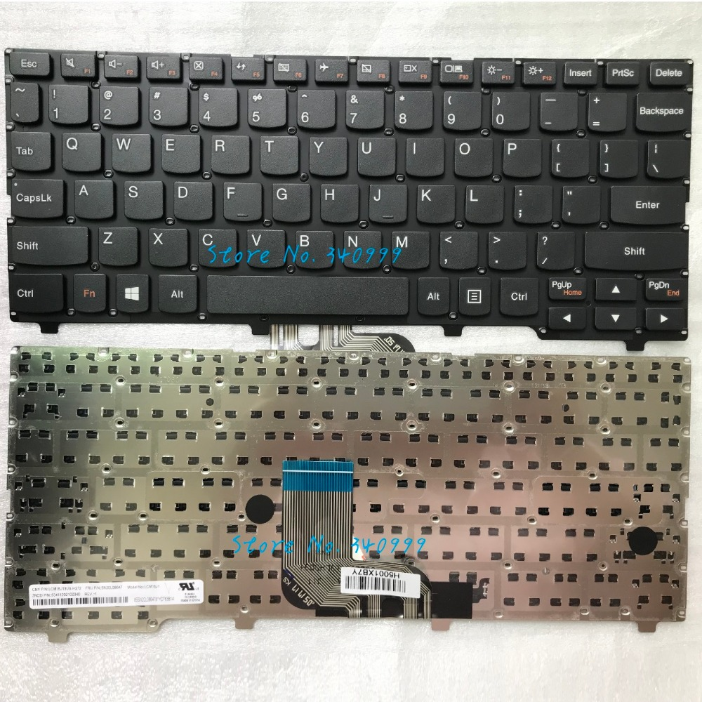 Original New for Lenovo Yoga 11 Chromebook N23 US Black Keyboard ...