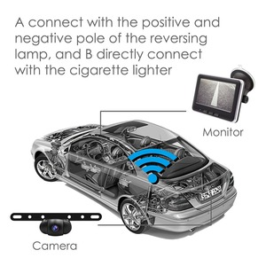 Image 3 - Accfly Wireless Car Dvr Rear View Camera Backup Parking Plate Cam with 4.3 Inch TFT Lcd Monitor for SUV