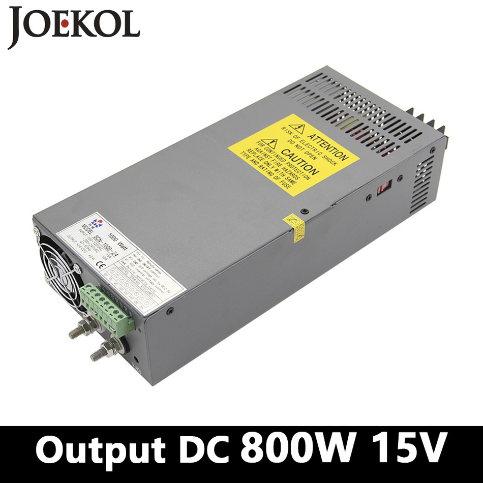 High-power switching power supply 800W 15v 53A,Single Output ac dc power supply for Led Strip,AC110V/220V Transformer to DC 12V industrial and led used 800w 15v 53a switching power supply ac dc power supply input 110v or 220v power supply unit adapter 15v