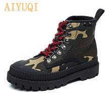 AIYUQI 2019 New Motorcycle Boots Martin Female British Style Military Shoes Autumn Korean Wild Canvas Women