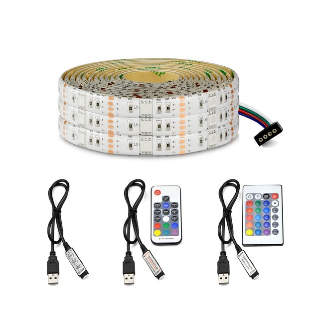 Rgb Led Light Strip 5050 Smd Tv Led Adhesive Ribbon Tape 5v Usb