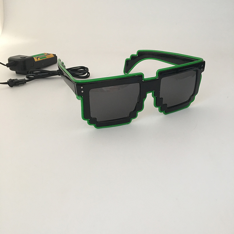 ALI shop ...  ... 32256443641 ... 5 ... 2020 DIY color glasses Pixel Light Up El Wire Led Flashing Glasses EDM EDC Party Bar Accessory Sunglasses ...