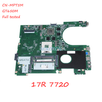 DA0R09MB6H1 REV H CN 0MPT5M MPT5M For inspiron 17R 7720 laptop motherboard Nvidia GeForce GT650M HD4000